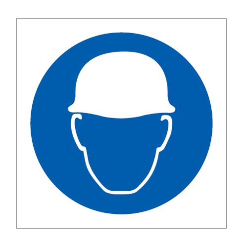 Wear hard hat symbol - Head Protection - Personal Protection - Health &  Safety