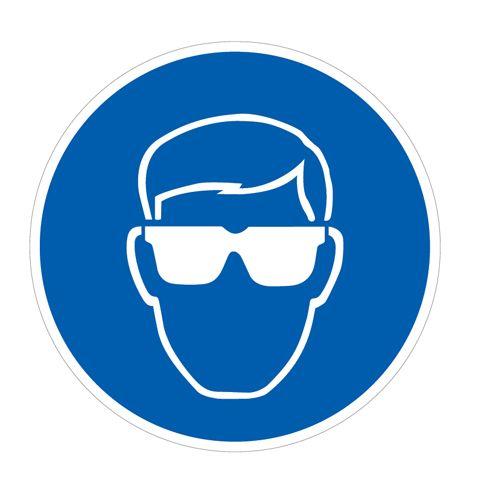 Floor Graphic 400 X 400 Eye Protection Symbol