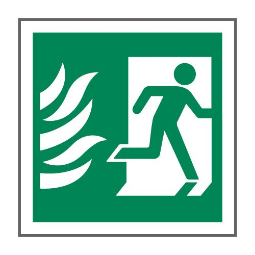 Nhs Estates Running Man Symbol Right Hand