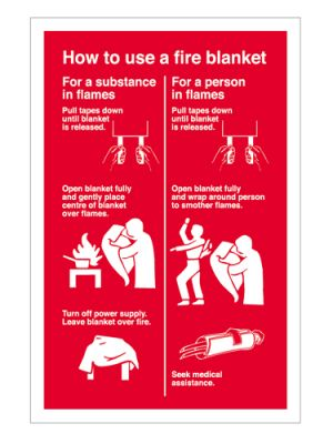 how to use a fire blanket ohs