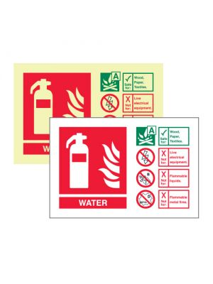 Water extinguisher ID