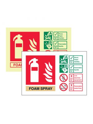 Foam Spray extinguisher ID