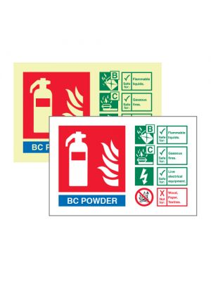 BC Powder extinguisher ID