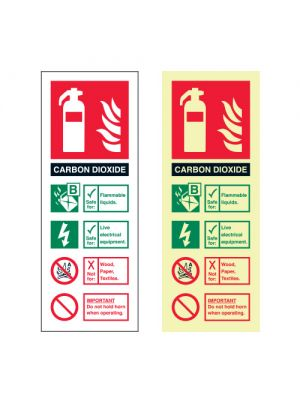 Carbon Dioxide extinguisher ID