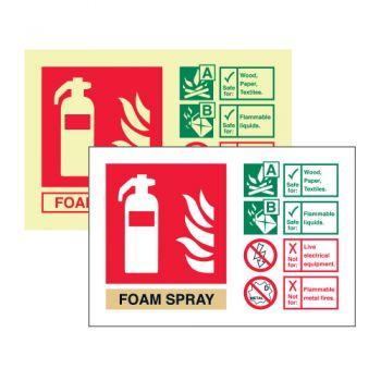 Foam Spray extinguisher ID
